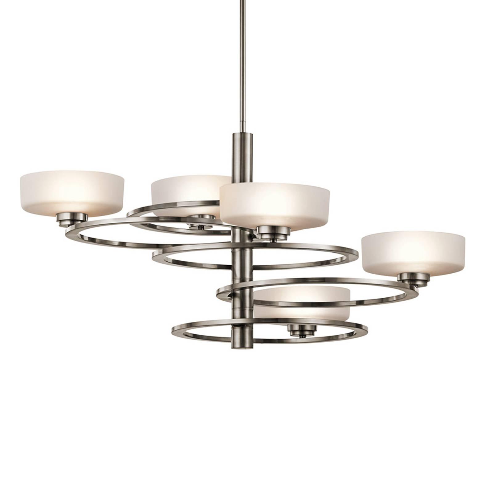 LED-riippuvalaisin Aleeka 5-lamp., 43,8 cm