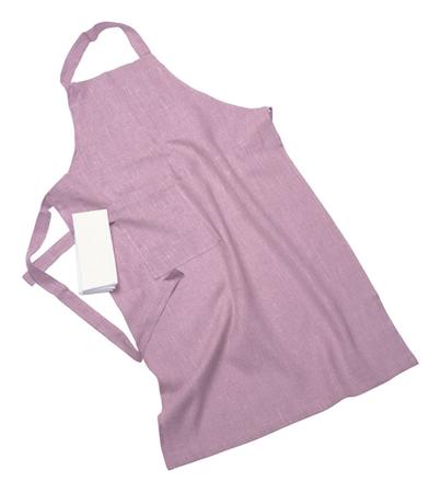 Erik classic langt forkle – Med håndduk, soft pink