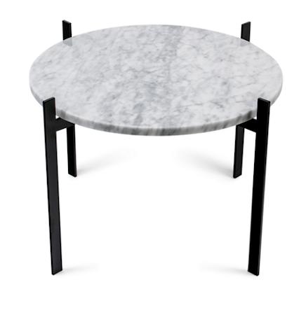 Single deck sofabord – White/black