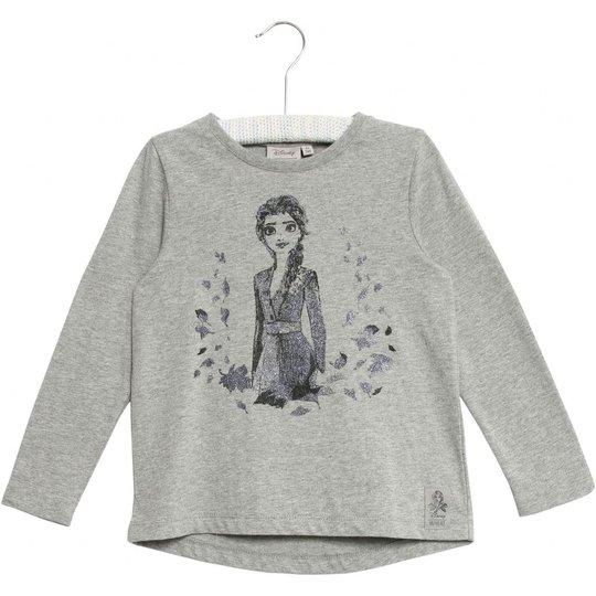 Wheat Frozen Elsa T-Skjorte, Melange Grey, 92