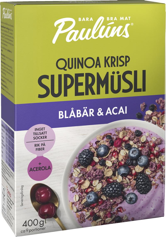 Müsli Blåbär & Acai - 25% rabatt