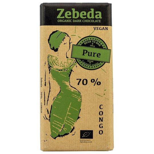 Zebeda Chocolate Ekologisk Mörk Choklad 70%, 100 g