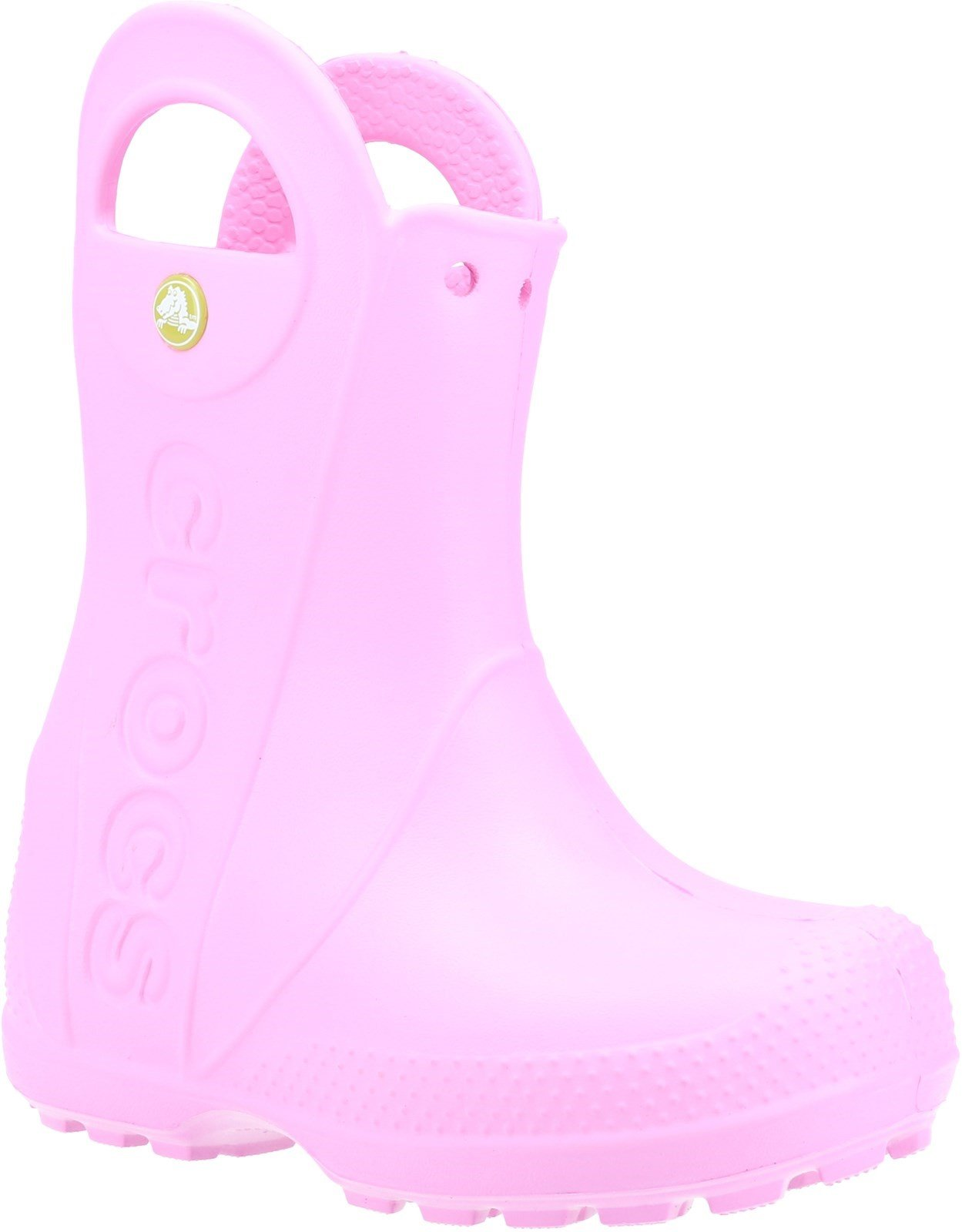 Crocs Kid's Handle It Rain Boot Carnation 21080 - Carnation 6