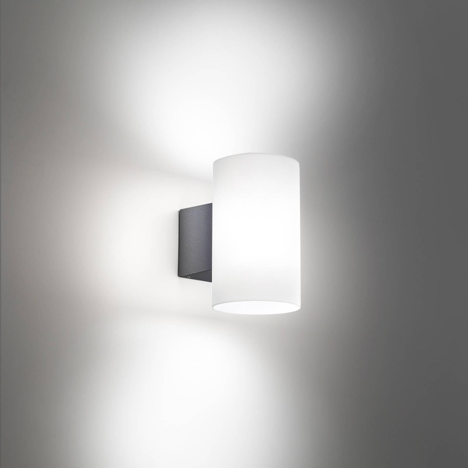 LED-ulkoseinälamppu Bianca, tummanharmaa
