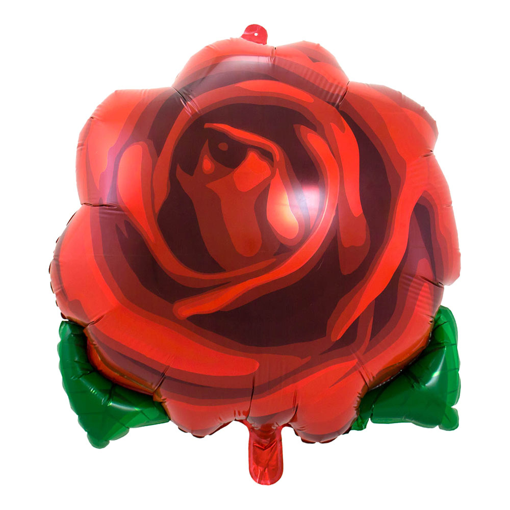 Folieballong Ros