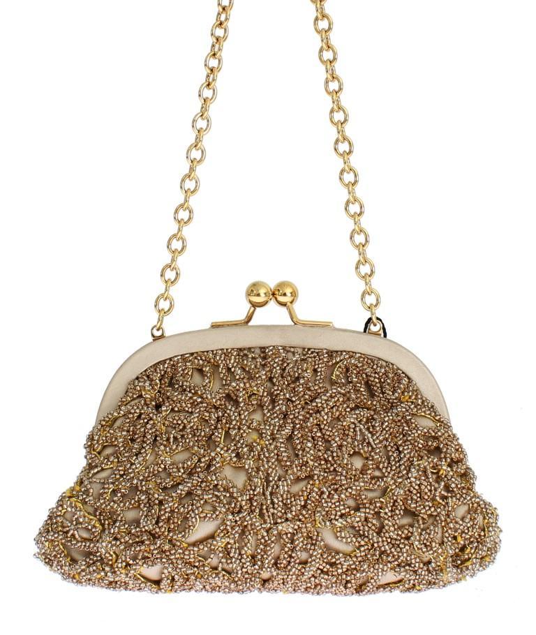 Dolce & Gabbana Women's Sequined Clutch Bag Yellow SIG13423