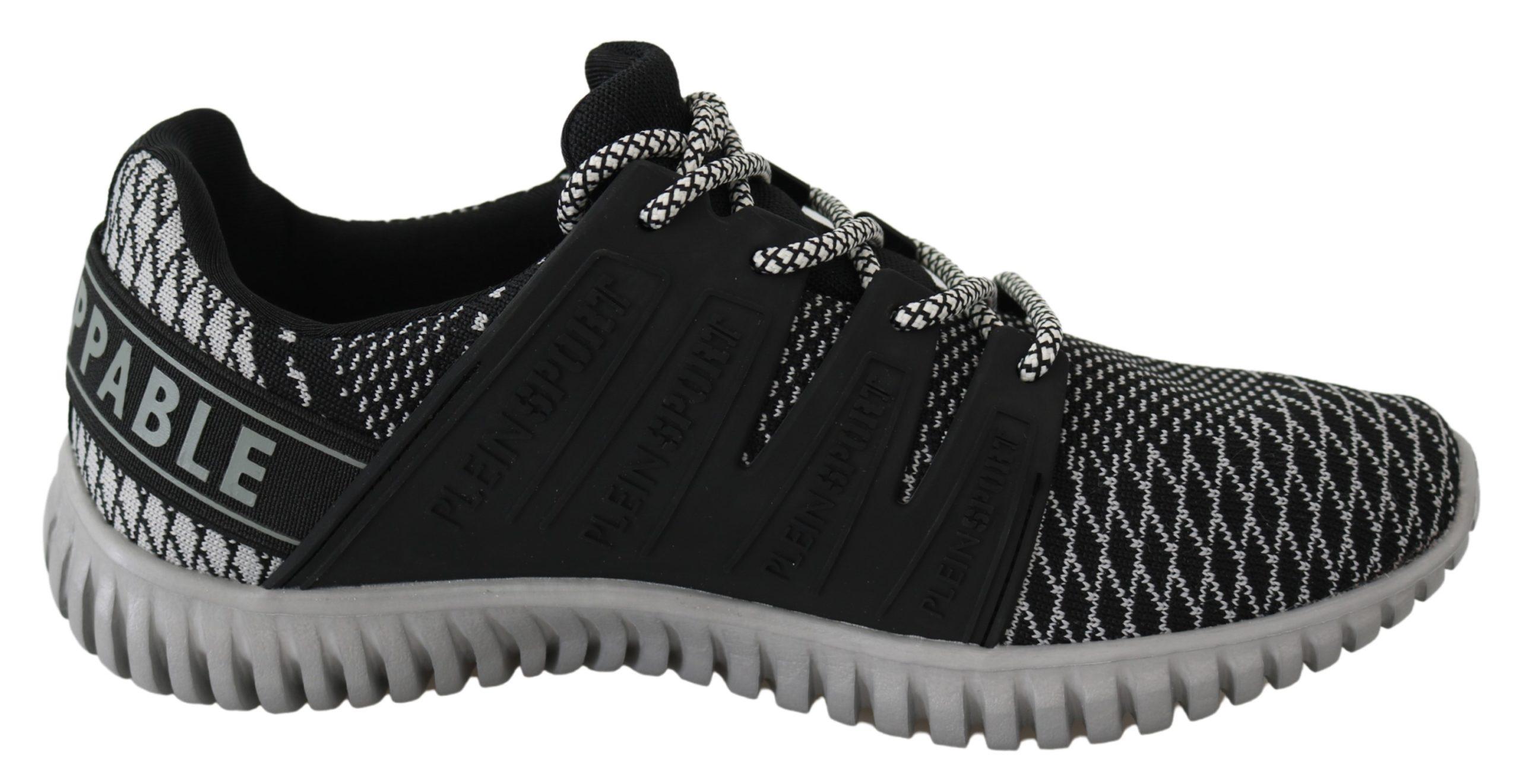 Black Polyester Runner Mason Sneakers Shoes - EU40/US7