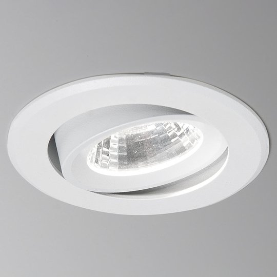 LED-uppospotti Agon Round 3 000 K, 40°, valkoinen