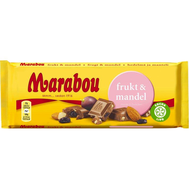 Marabou Chokladkaka Frukt & Mandel - 33% rabatt