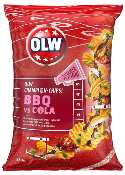 OLW BBQ vs Cola Chips 250g