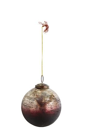 Glasboll Ø 10 cm Burgundy