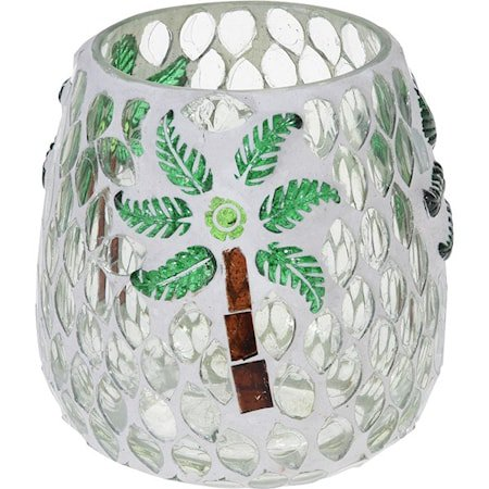 Lyslykt Mosaikk Palme 10 cm