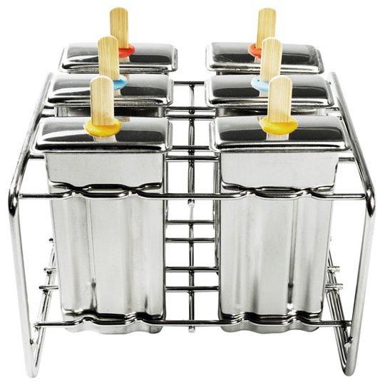 Pulito Glassform Rostfritt stål - Rektangulär, 6 st + Ställning