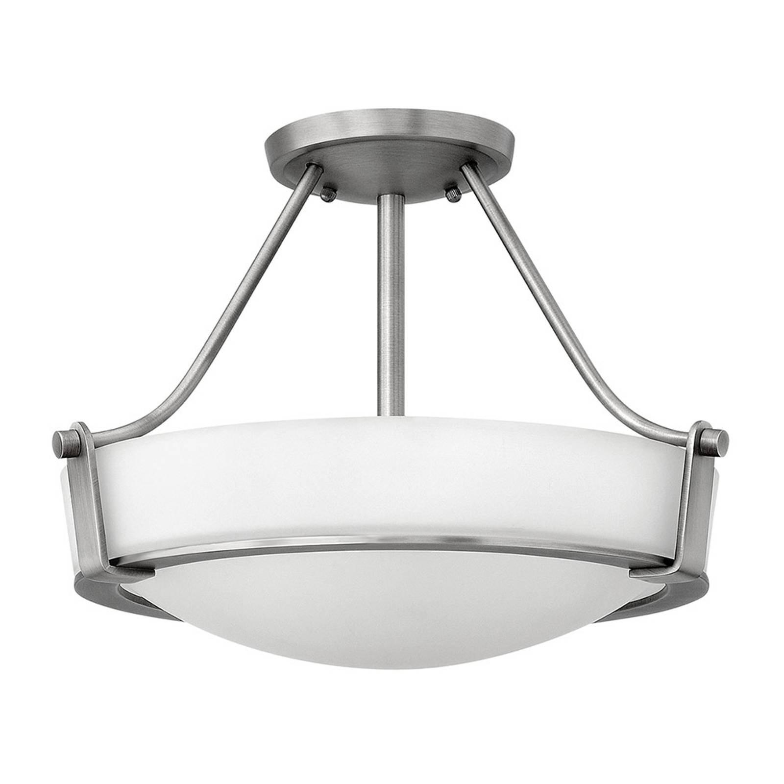 Hathaway taklampe med avstandsstykke, nikkel Ø41cm
