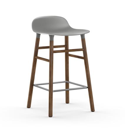 Form Barstol Grå/Valnøtt 65 cm