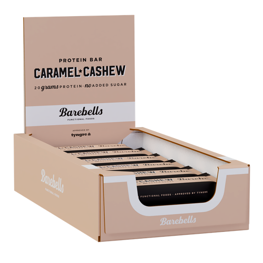 12 x Barebells Protein Bar, 55 g, Caramel and Cashew