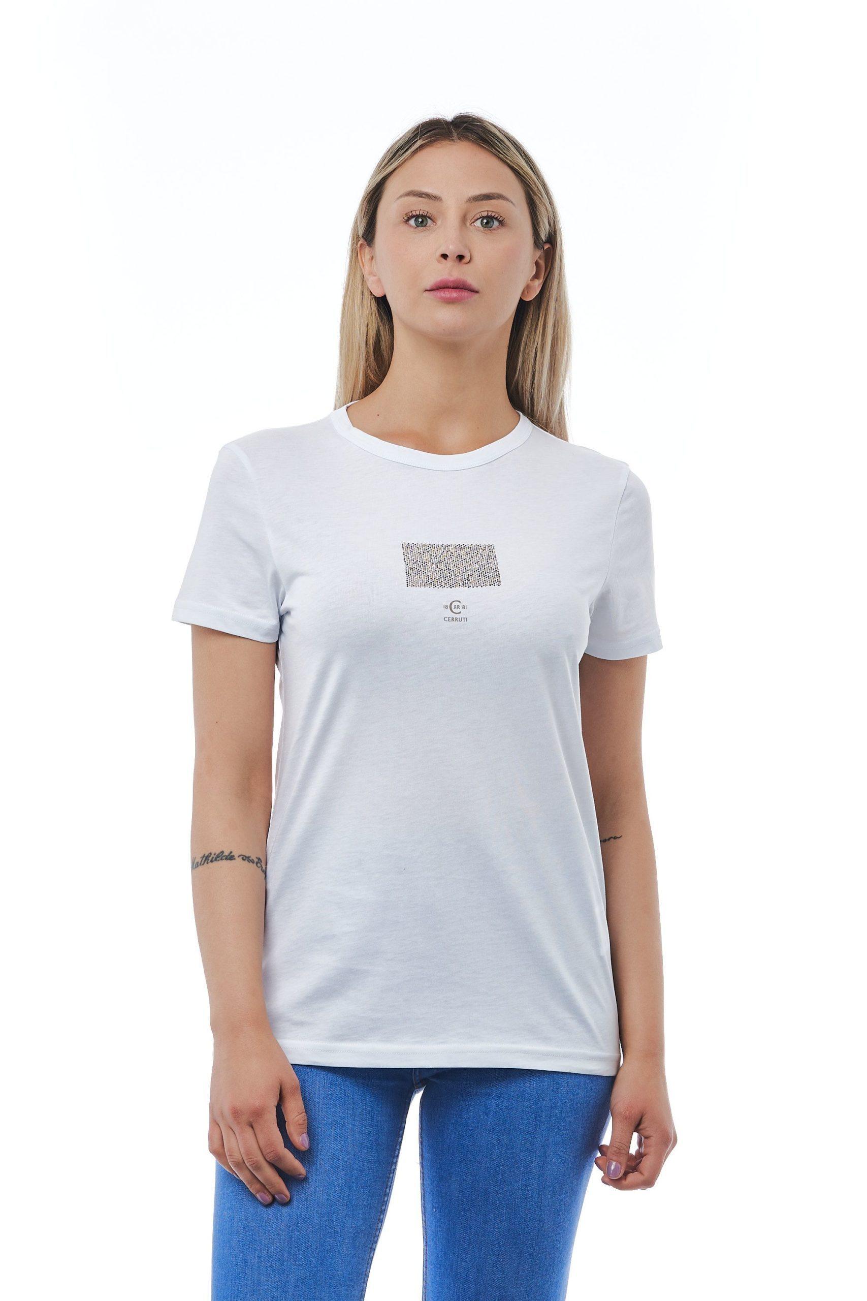 Cerruti 1881 Women's Bianco T-Shirt White CE1410156 - M
