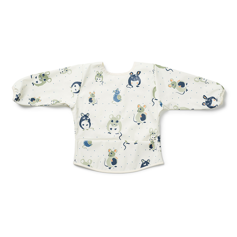 Long-sleeved Baby Bib - Forest Mouse