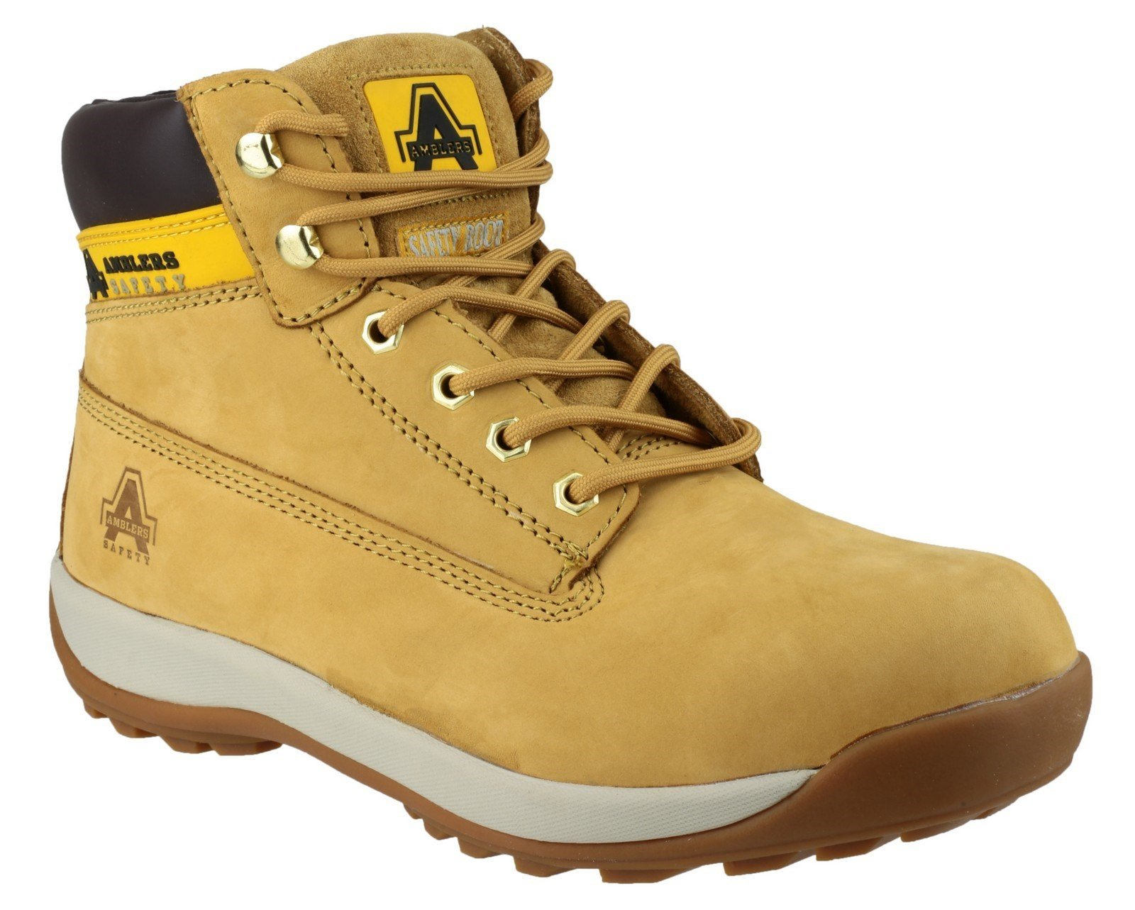 Amblers Unisex Safety Lace up Boot Honey 04443 - Honey 3