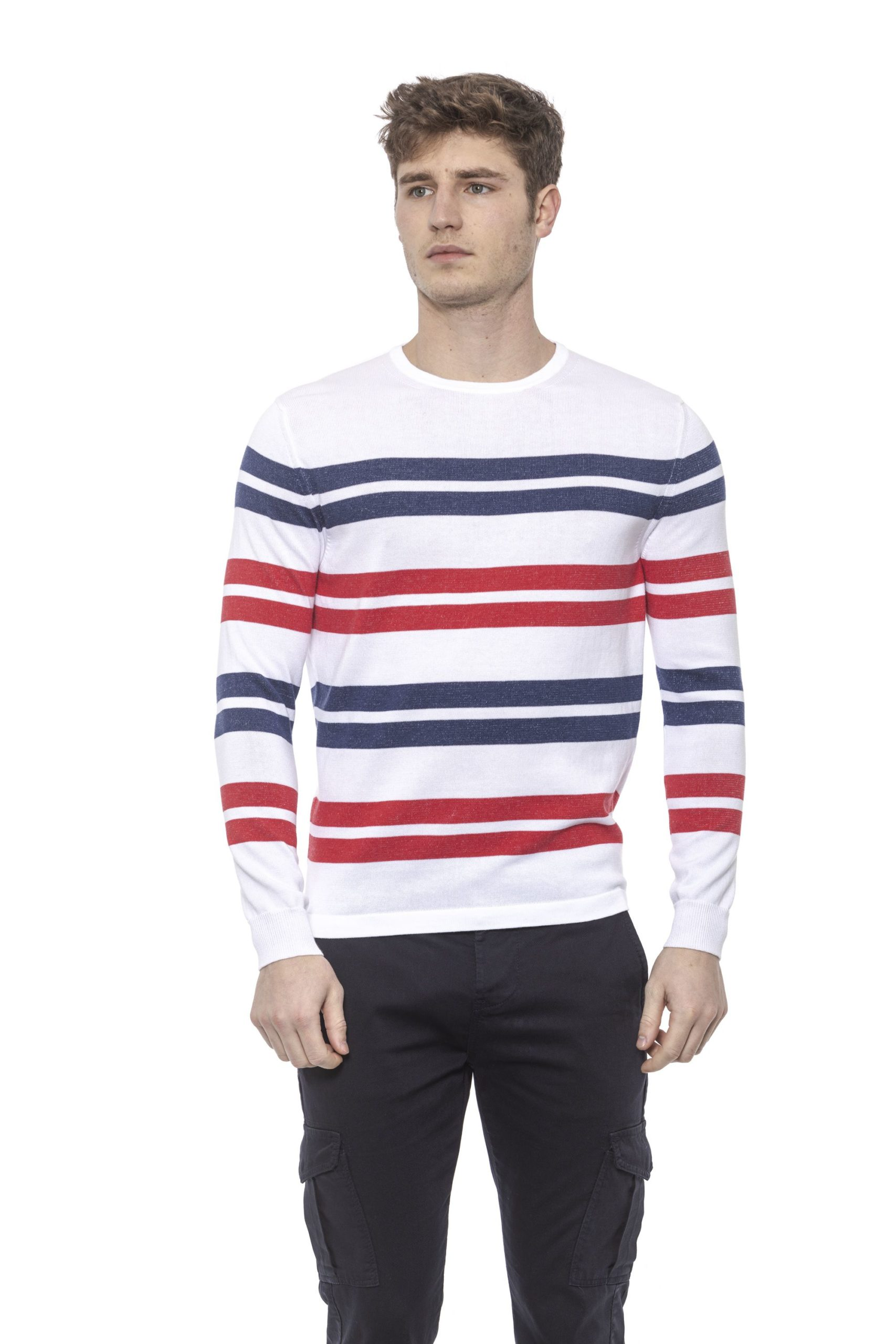 Alpha Studio Men's Biancoottic Sweater White AL1374465 - IT50 | L