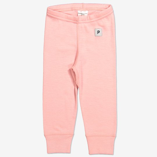 Merinoull bukse baby rosa