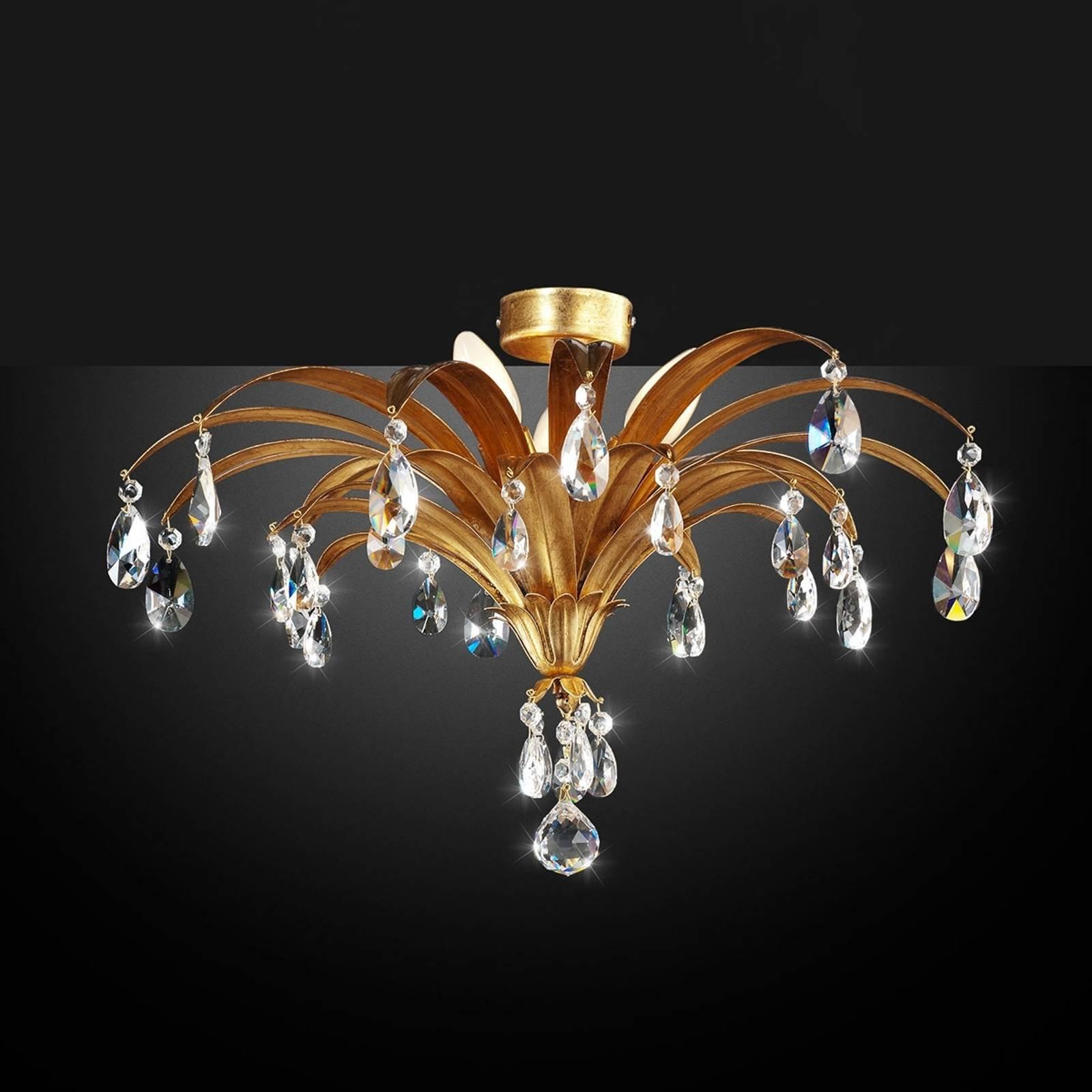 Mayleen - edel taklampe med krystaller