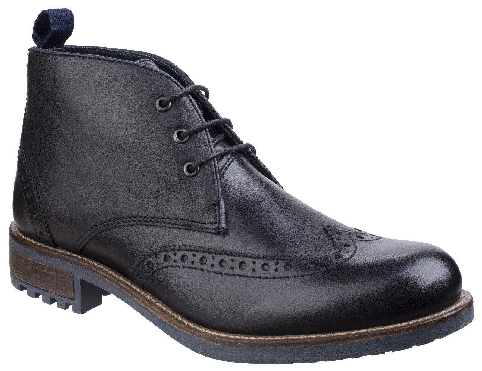 Cotswold Men's Avening Brogue Chukka Boot Various Colours 25528 - Black 6
