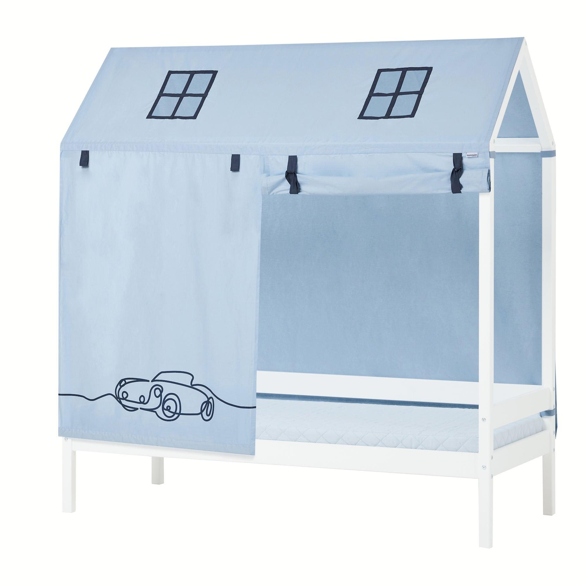 Hoppekids Sänkyverho Talosänkyyn Cars 90x200 cm, Sininen