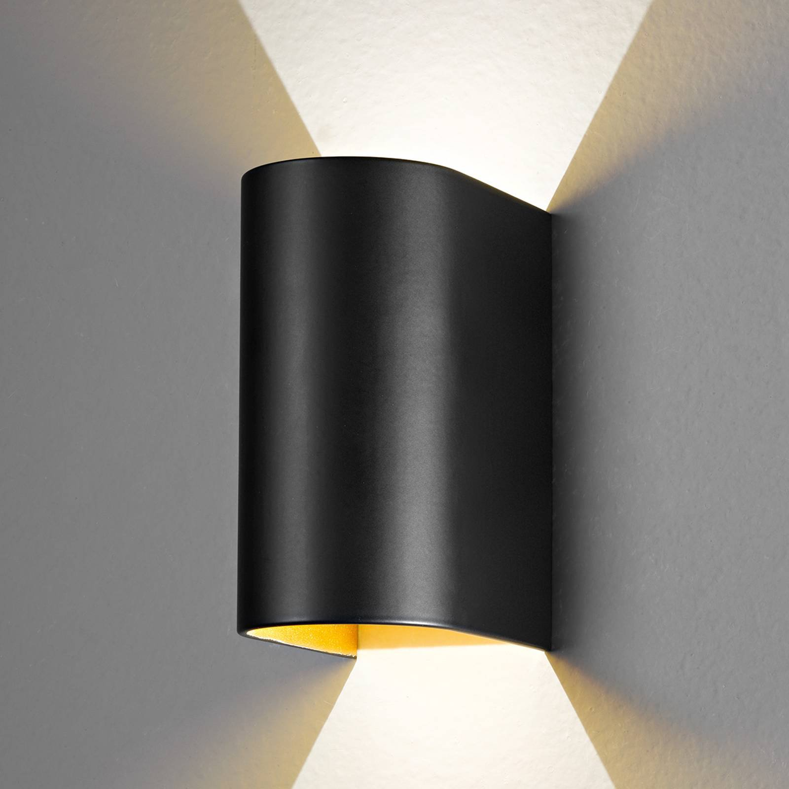 LED-vegglampe Feeling, svart-gull