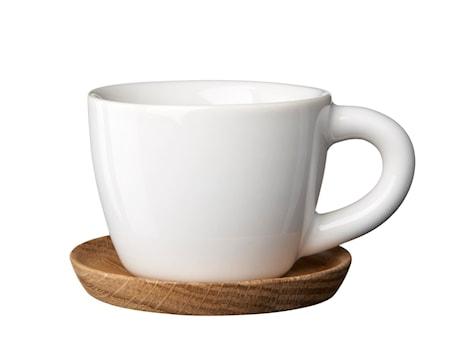 Espressokopp 10 cl med träfat vit
