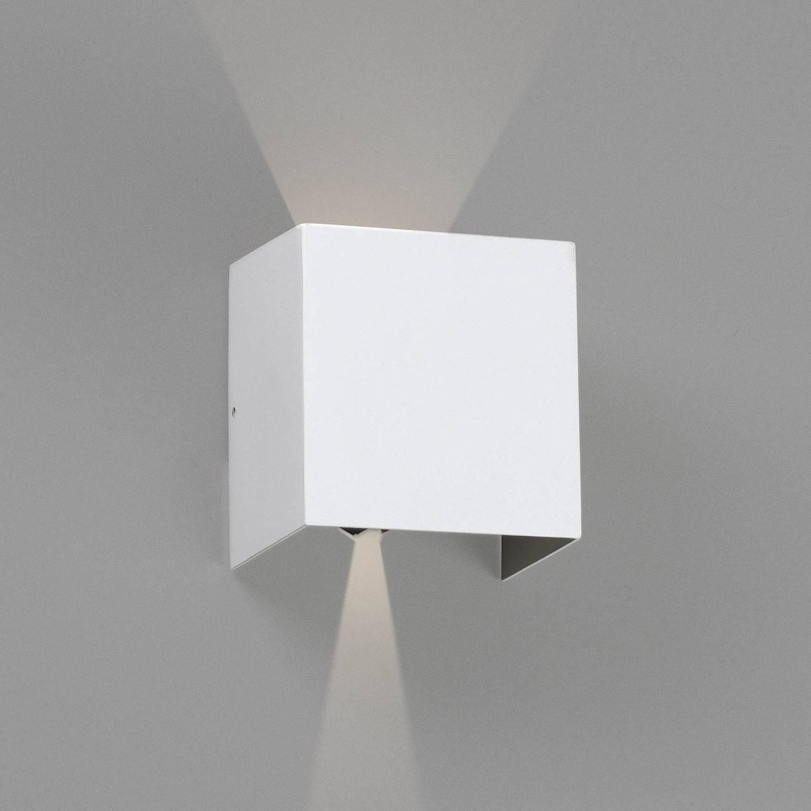 Utendørs LED-vegglampe Olan, hvit