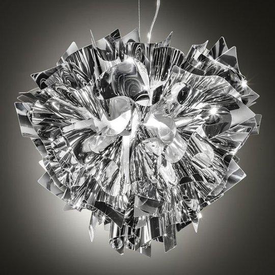 Slamp Veli -design-riippuvalo, Ø 42 cm, hopea