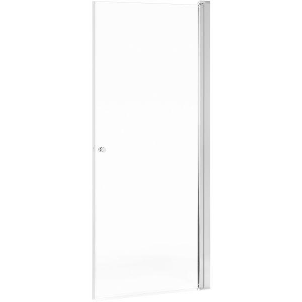 Gustavsberg Square Dusjdør klart glass, polert profil 100 cm