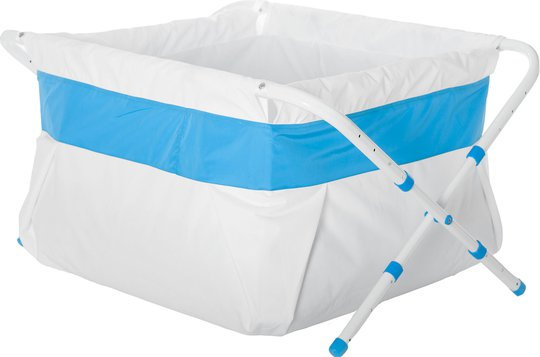 BiBaBad Flexi Sammenleggbart Badekar 60–80 cm, Blå