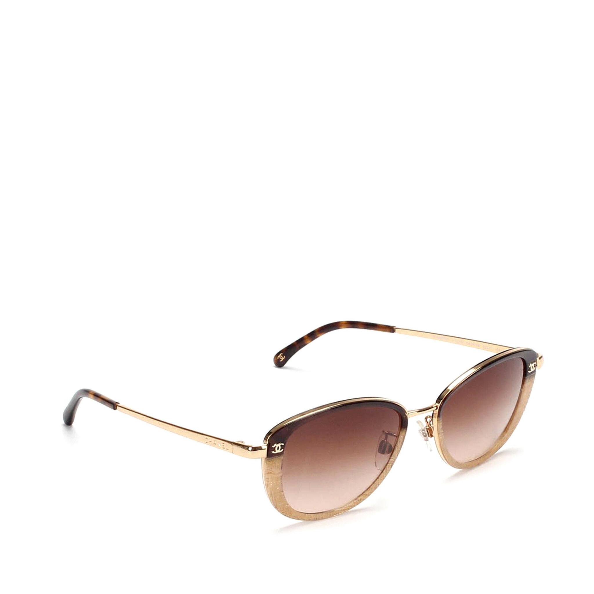 Chanel Cc Round Tinted Sunglasses, ONESIZE