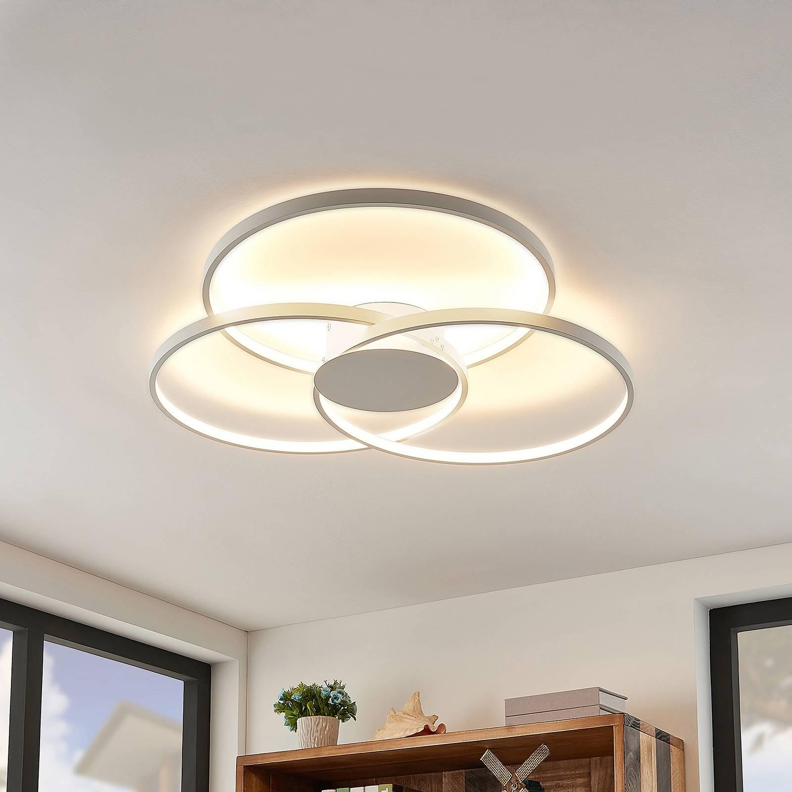 Lindby Riley -LED-kattovalo, himmennys, valkoinen