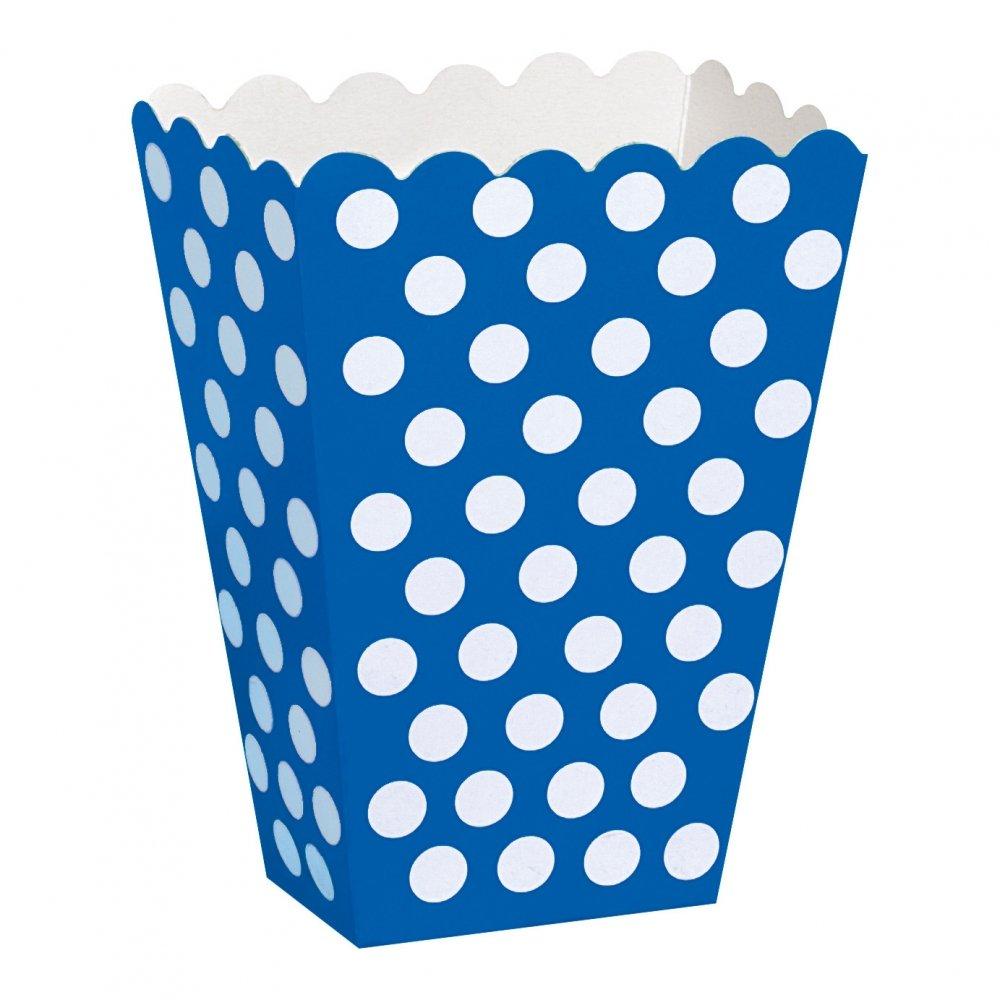 Popcornbägare Blå Prickiga - 8-pack