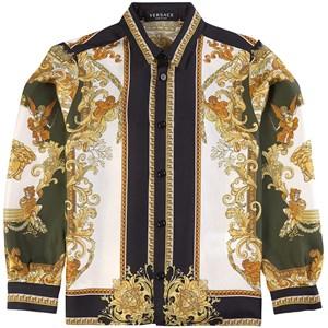 Versace Baroccoflage Skjorta Off white 8 år