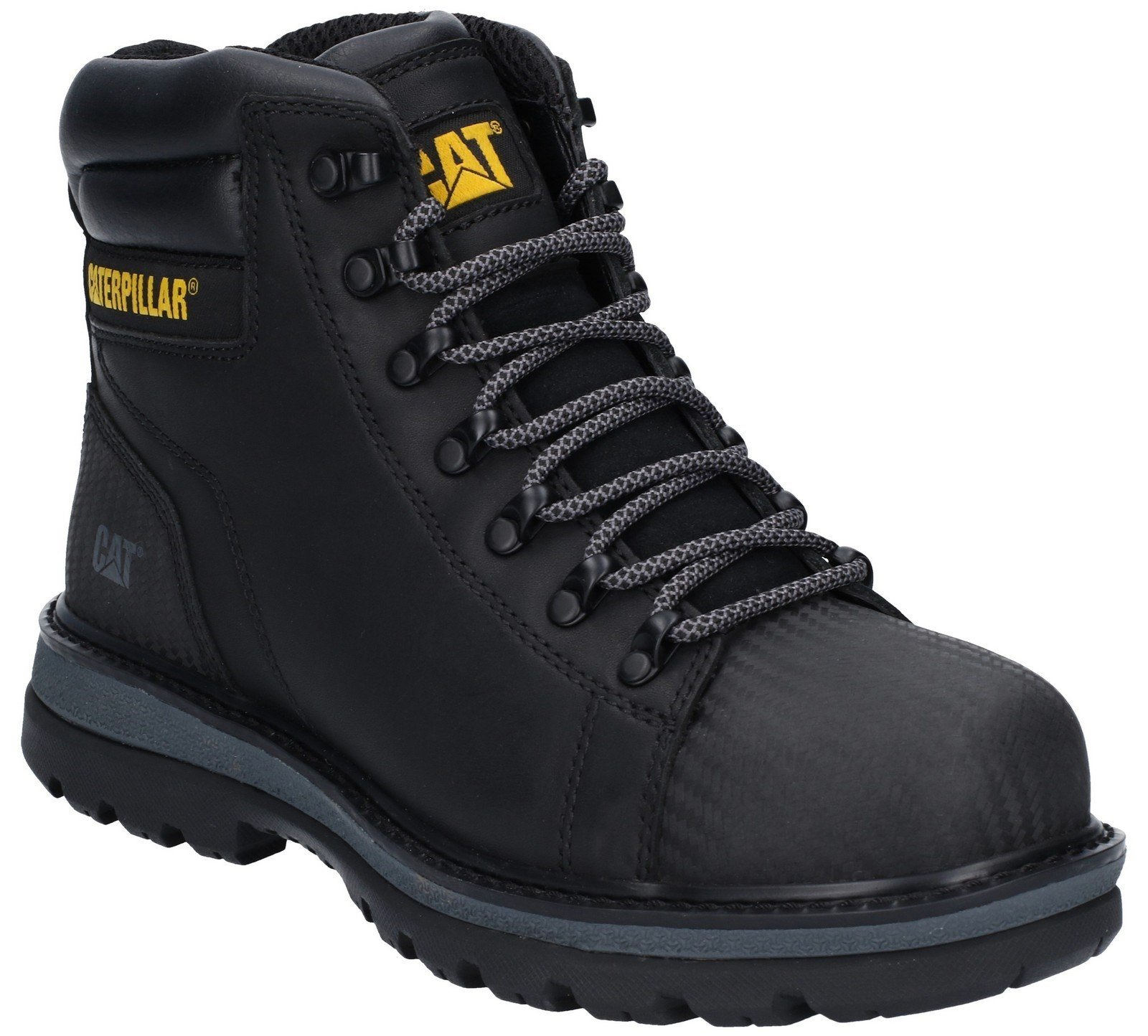 Caterpillar Men's Foxfield Lace Up Safety Boot Black 29660 - Black 6