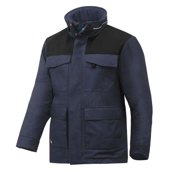 Snickers 1101 RuffWork Vinterparkas marinblå/svart XS