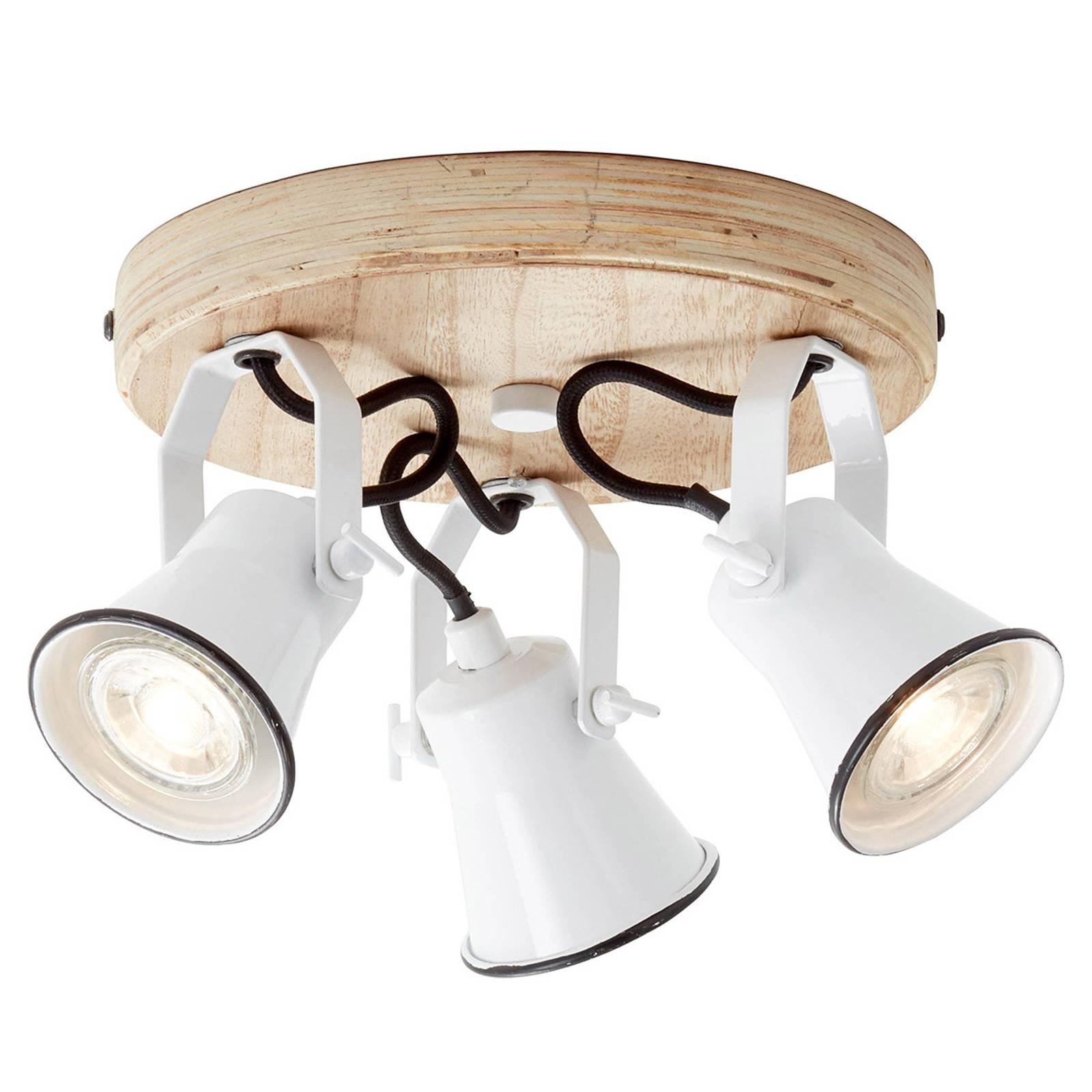 Seed-kattospotti, 3-lamp., valkoinen