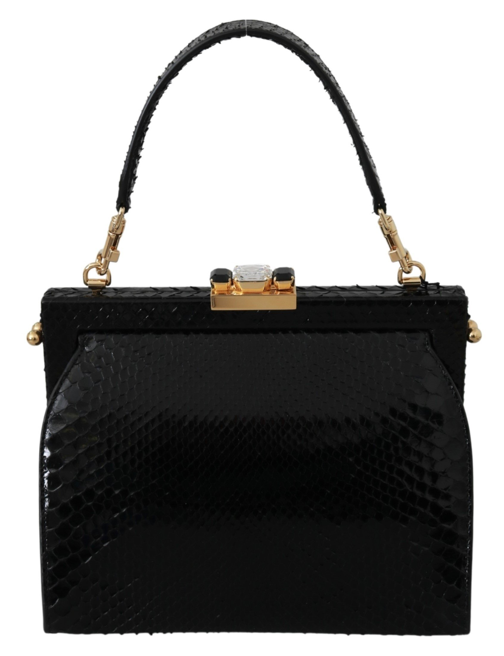 Dolce & Gabbana Women's Crystal Studs Python ADELINA Purse Black VAS9417