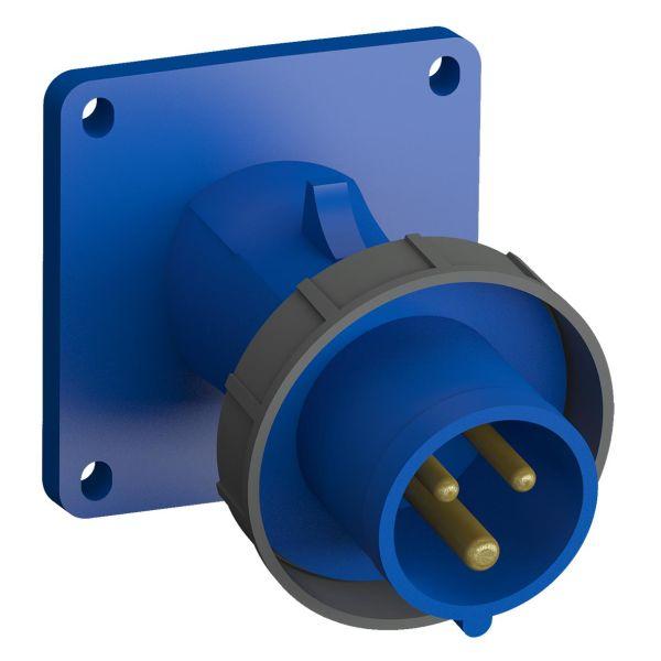 ABB 2CMA102303R1000 Panelinntak hurtigtilkoblet, vibrasjonsbestandig Vinklet, 3-polet, 16 A