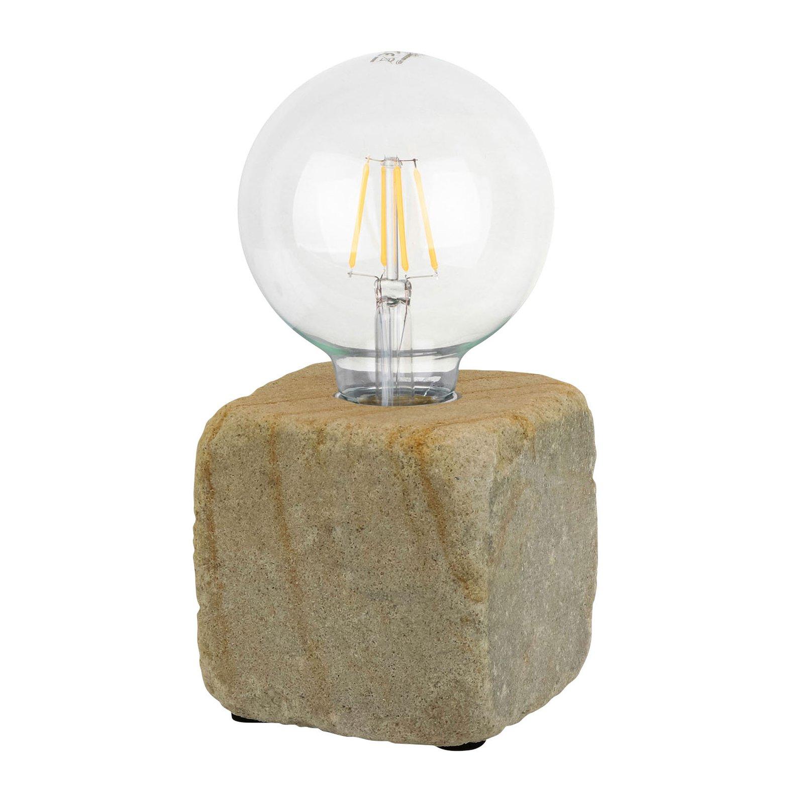 Bordlampe Sandy av sandstein