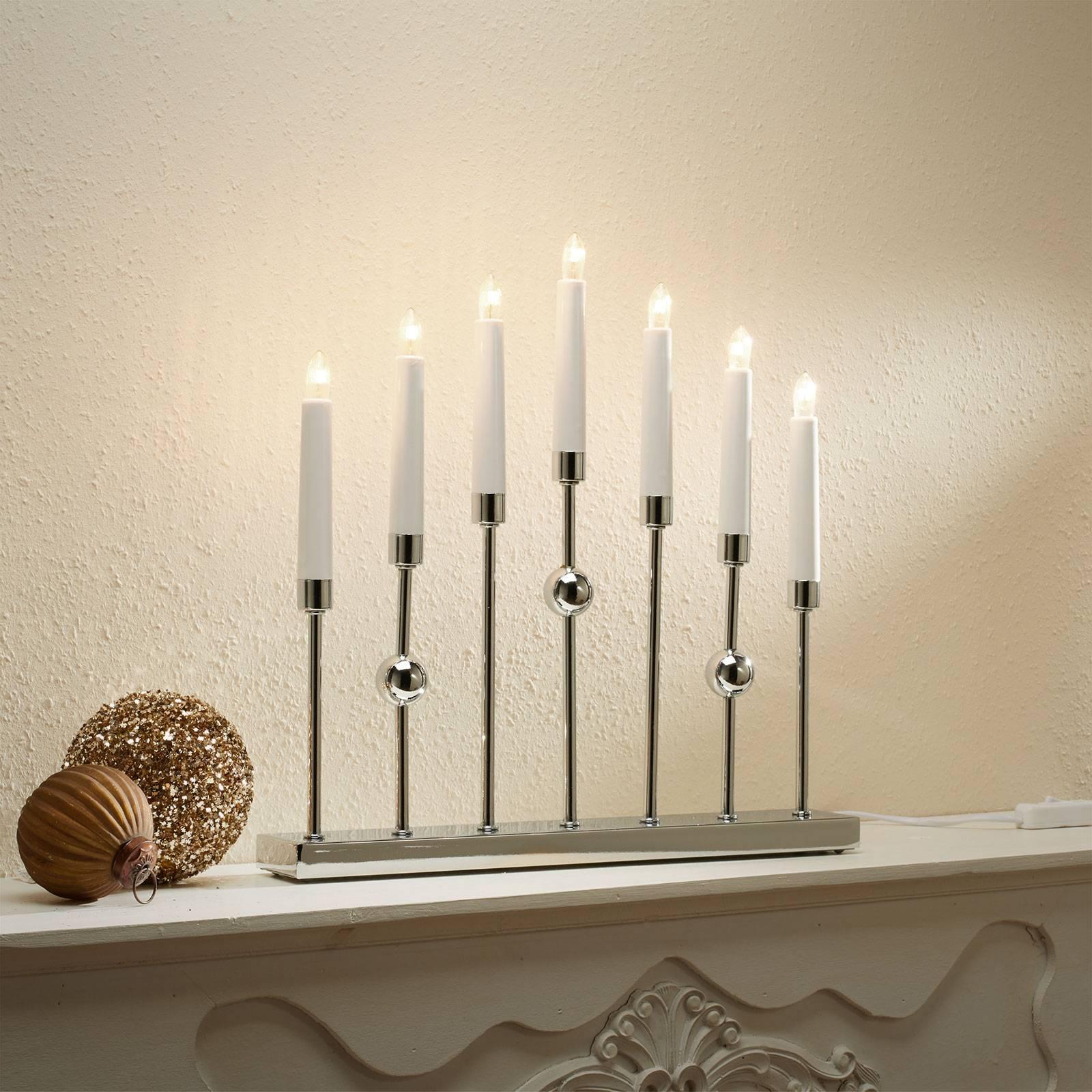 Kromattu Gustavo-kynttelikkö, 7-lamppuinen