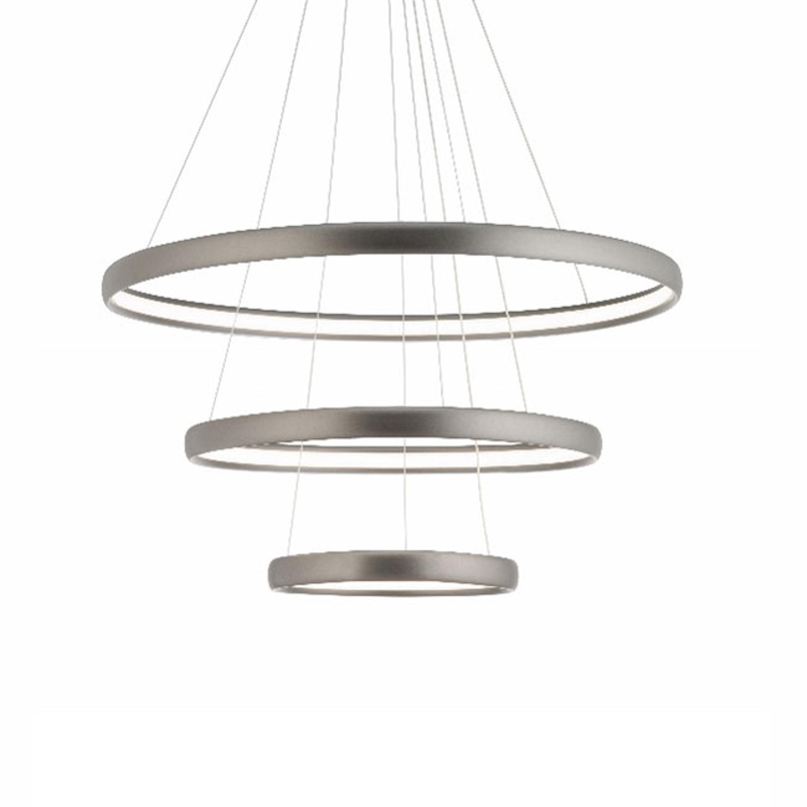 LED-riippuvalaisin Trinity alumiinia, hopea