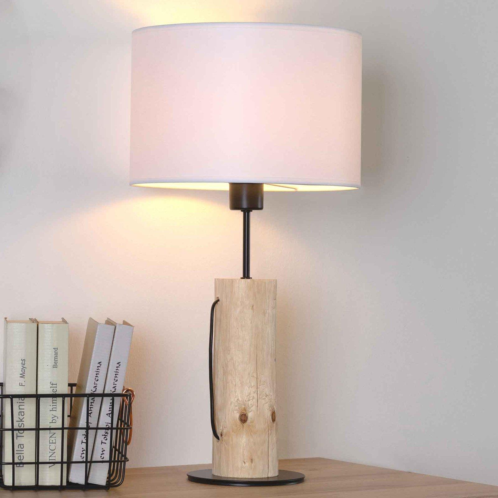 Bordlampe Pino Table, naturlig furutre