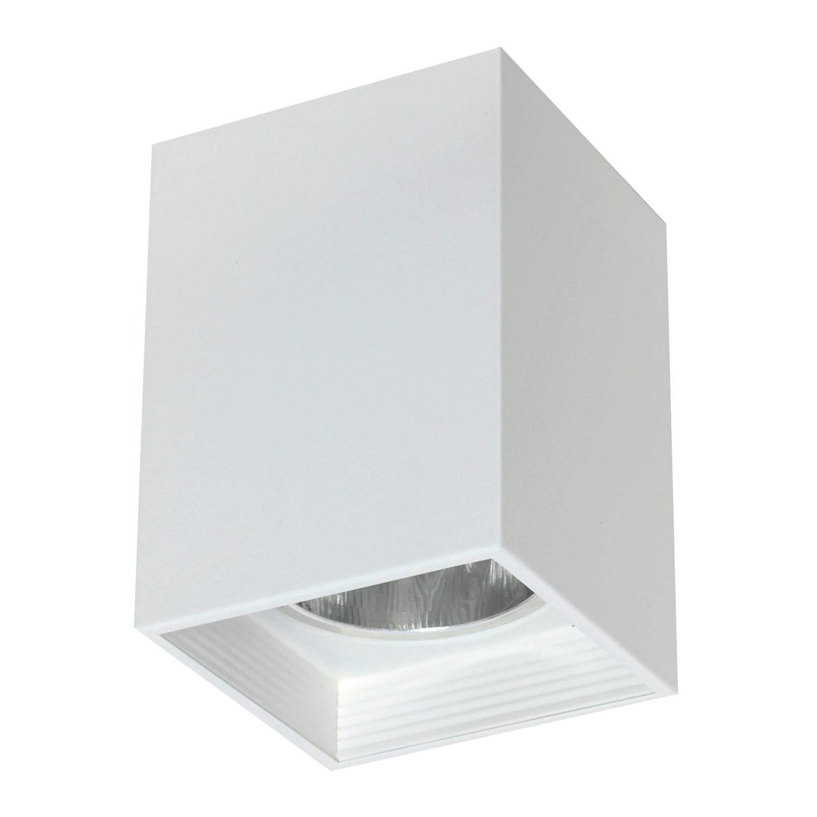 Kattolamppu Downlight square valkoinen, L 11,5 cm