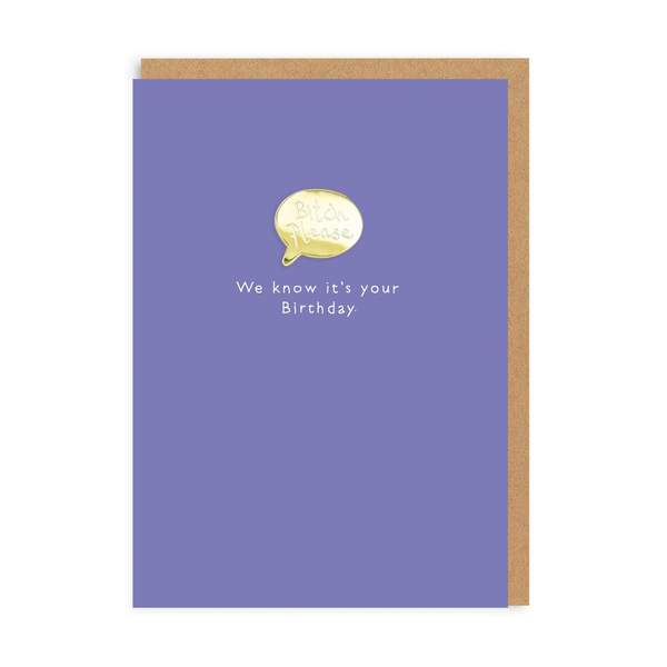 Bitch Please Enamel Pin Birthday Greeting Card