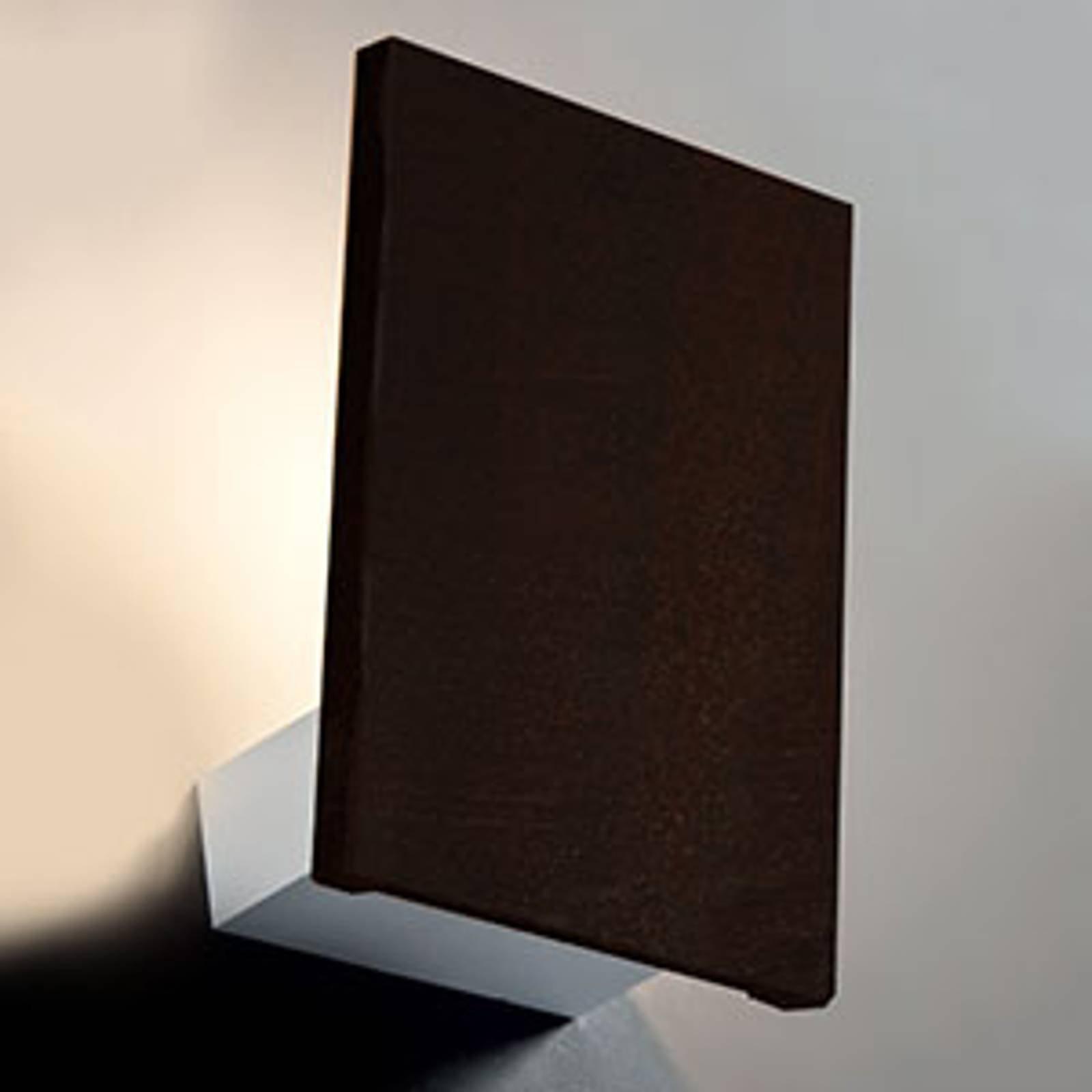Cortenstål-vegglampe Flat med LED